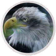 Majestic Eagle Of The Usa - Featured In Feathers And Beaks-comfortable Art And Nature Groups Round Beach Towel