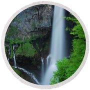 Majestic Kegon Falls Round Beach Towel