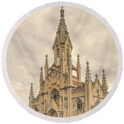 Ubate Cathedral Round Beach Towel