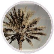 Majestic Palm Round Beach Towel
