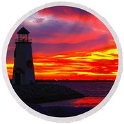Majestic Round Beach Towel