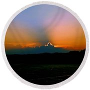 Majestic Sunset Round Beach Towel