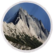 Majesty In The Canadian Rockies Round Beach Towel