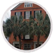 Major Peter Bocquet House Charleston South Carolina Round Beach Towel