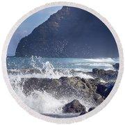 Makapuu Point Lighthouse- Oahu Hawaii V3 Round Beach Towel