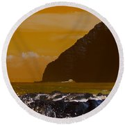 Makapuu Point Lighthouse- Oahu Hawaii V4 Round Beach Towel