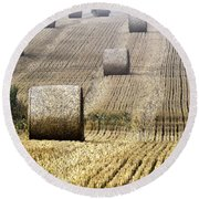 Make Hay While The Sun Shines  Round Beach Towel