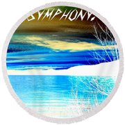 Make Life A Symphony Round Beach Towel