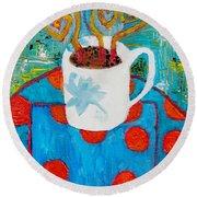 Coffee  By Janelle Dey Round Beach Towel