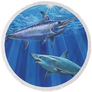 Mako Sword Off0024 Round Beach Towel