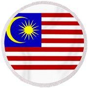 Malaysia Flag Round Beach Towel