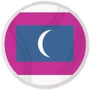 Maldives Flag Round Beach Towel