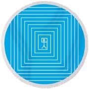 Male Maze Icon Round Beach Towel