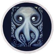 Malekei The Octopi Round Beach Towel