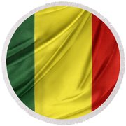 Mali Flag Round Beach Towel