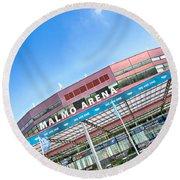 Malmo Arena 01 Round Beach Towel