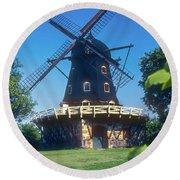 Malmo Windmill Round Beach Towel