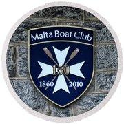Malta Boat Club Round Beach Towel