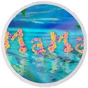 Mama Ocean Round Beach Towel