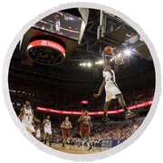 Mamadi Diane Dunk Against Boston College Round Beach Towel