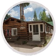Mamma Cabin At The Holzwarth Historic Site Round Beach Towel