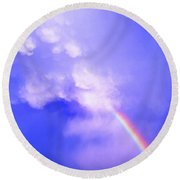 Mammatus Rainbow Of New Mexico Round Beach Towel