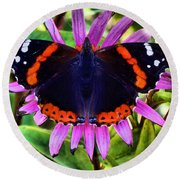 Mammoth Butterfly Round Beach Towel