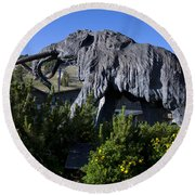 Mammoth Mountain Ski Area Round Beach Towel