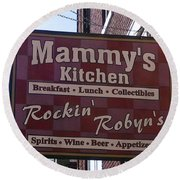 Mammy's Kitchen In Bardstown Kentucky Round Beach Towel