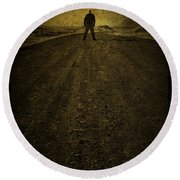 Man On A Mission Round Beach Towel