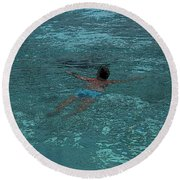 Man Swimming Round Beach Towel
