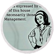 Management Opinions Round Beach Towel