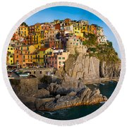 Manarola Round Beach Towel by Inge Johnsson