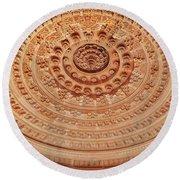 Mandala - Jain Temple Ceiling - Amarkantak India Round Beach Towel