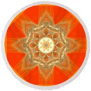 Mandala 014-2 Round Beach Towel