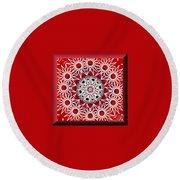 Mandala 014-3 Round Beach Towel
