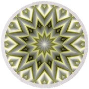 Mandala 107 Yellow Round Beach Towel