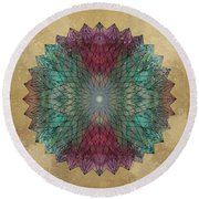 Mandala Crystal Round Beach Towel by Filippo B