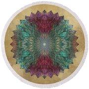 Mandala Crystal Round Beach Towel