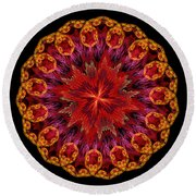 Mandala Of Love Round Beach Towel