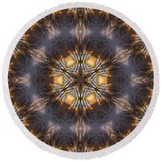 Mandala87 Round Beach Towel