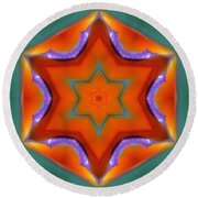 Mandala91 Round Beach Towel