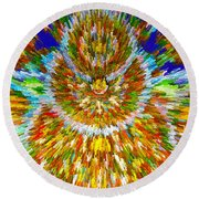 Mandalas Of The Buddha Round Beach Towel