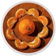 Mandarin Round Beach Towel