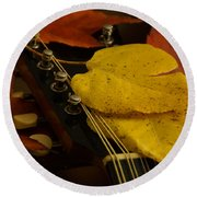 Mandolin Autumn 6 Round Beach Towel
