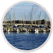 Mandarin Park Boats On Julington Creek Round Beach Towel
