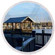 Mandarin Park Boathouse Round Beach Towel