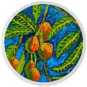 Mangoes Delight Round Beach Towel