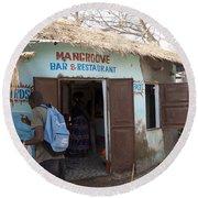 Mangrove Bar And Restaurant Round Beach Towel