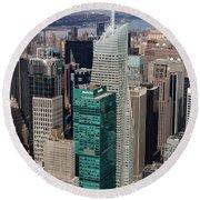 Manhattan Bryant Park Aerial Round Beach Towel by Jannis Werner